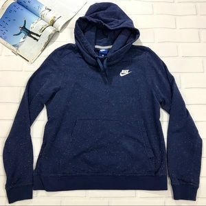 Nike Hoodie Sweater speckled colors navy blue